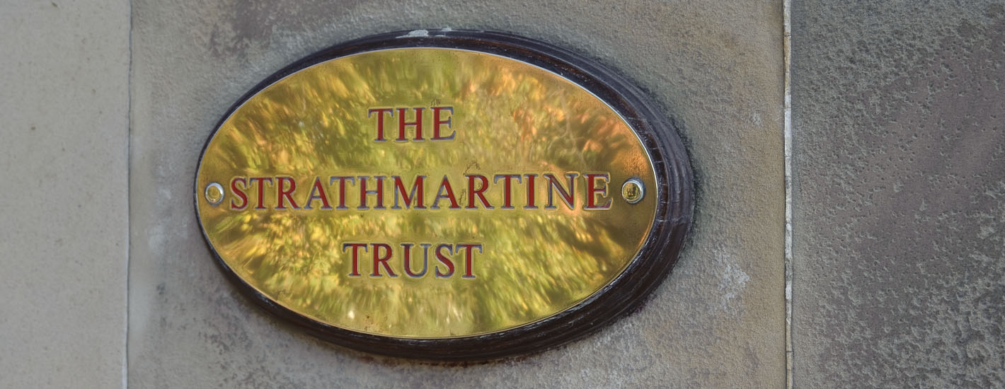 Strathmartine Centre door plaque
