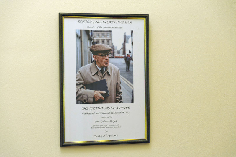 Framed portrait of Ronald Cant, founder of the Strathmartine Trust